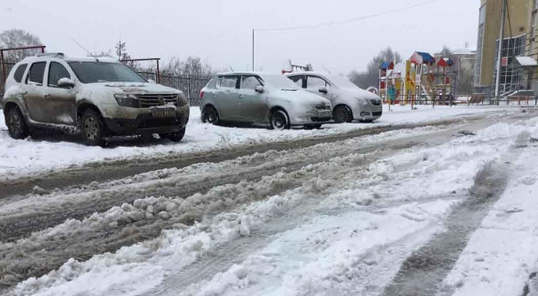 Уборка снега в одинцовском районе
