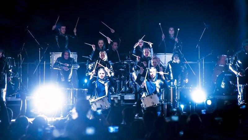 Пермяки начали отмечать День города под шоу барабанов